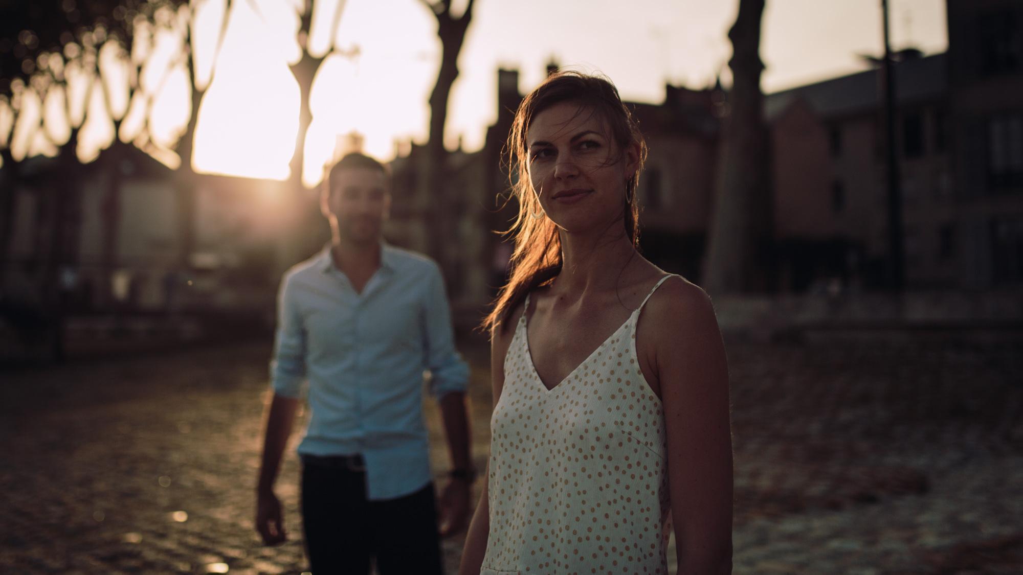 Séance engagement, Orléans, sunset