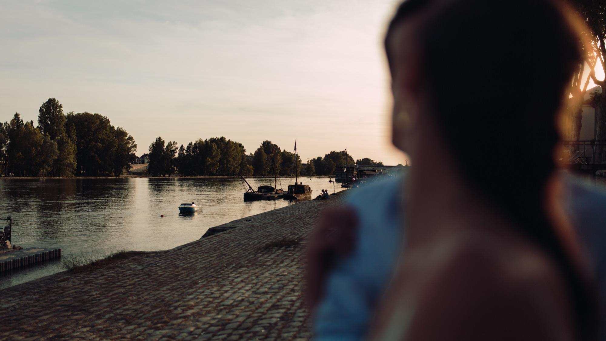 Engagement session, Orléans, Loire Valley, Sunset