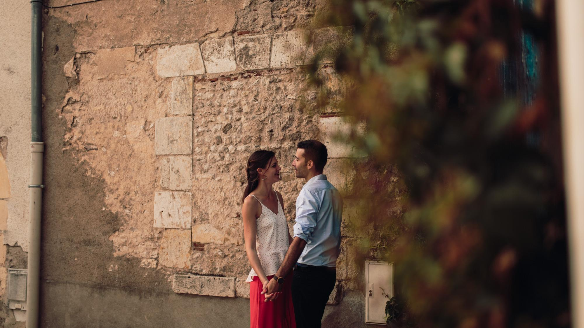 Engagement session, Orléans, Loire Valley, Street