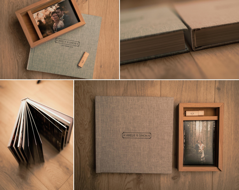 Livre photo mariage / livre / boites bois