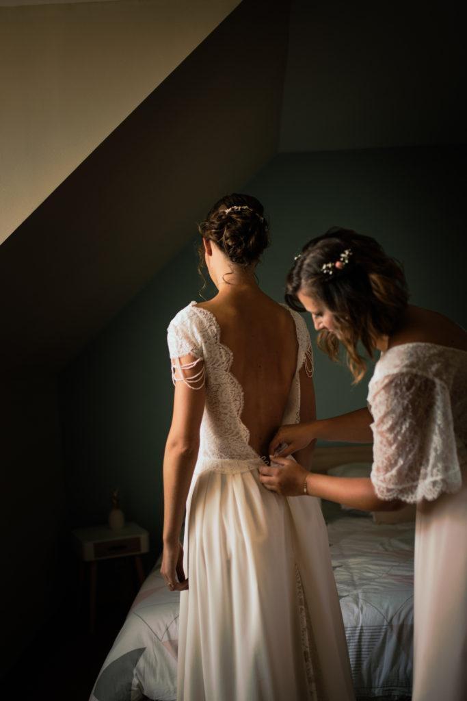 """préparatifs Amélie, Robe par """"de soie et d'émotions""""."""