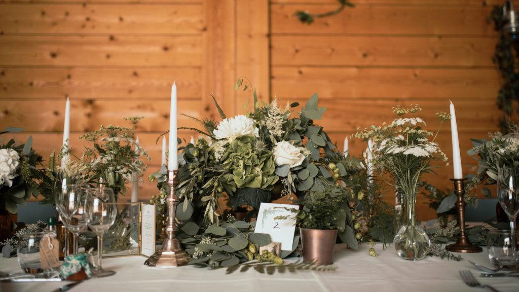 décoration florale réalisée par Delphine Theis : Nivéole