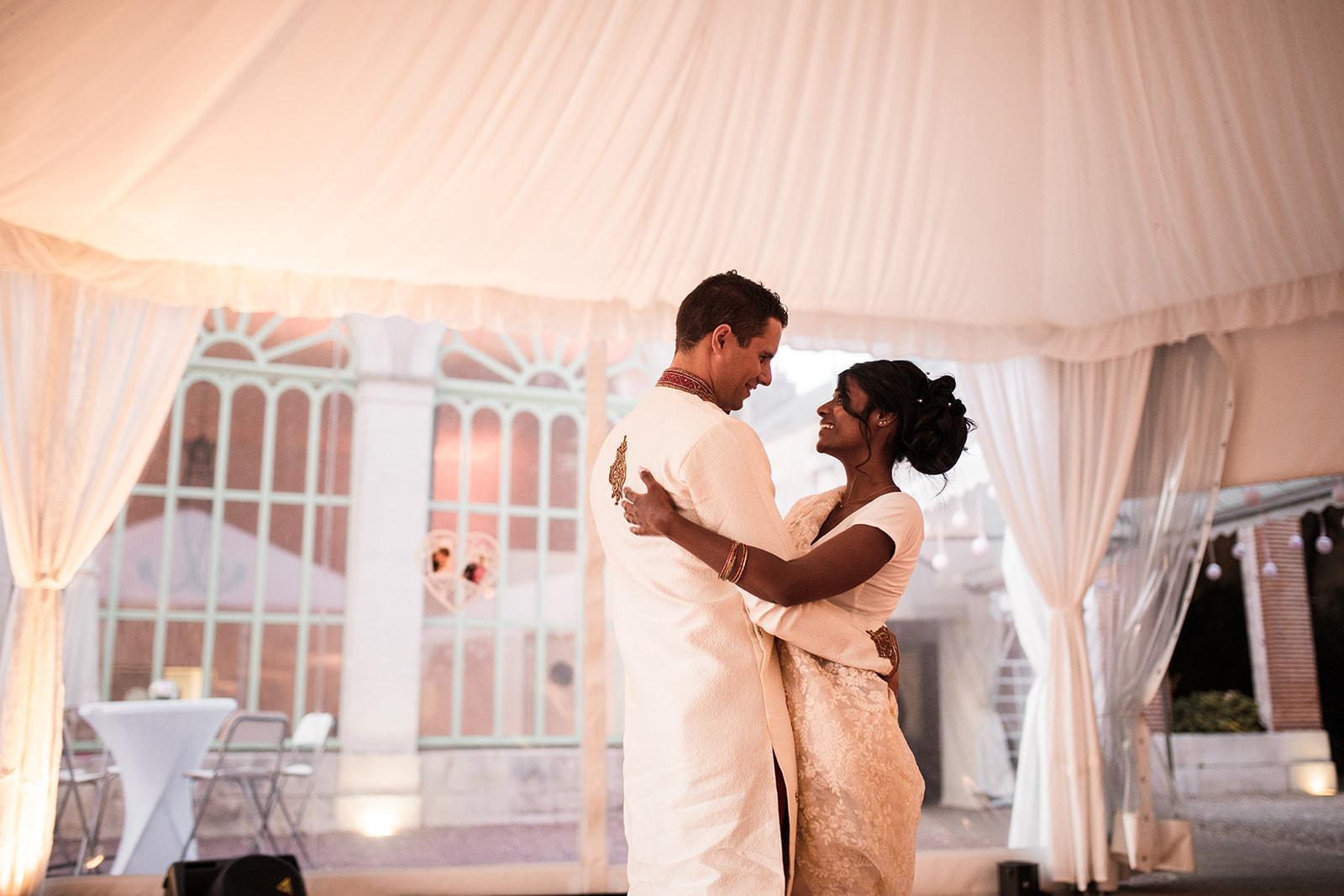 Mariage sous une tente cristal