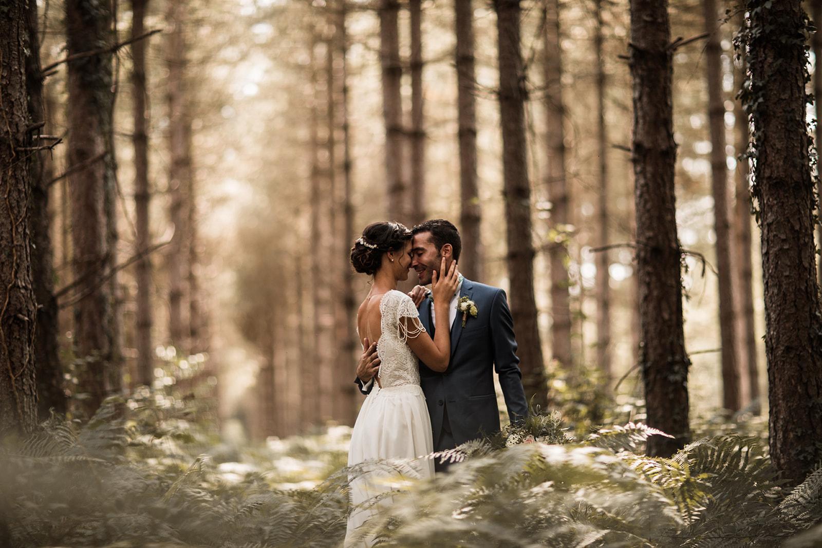 un moment à deux en forêt